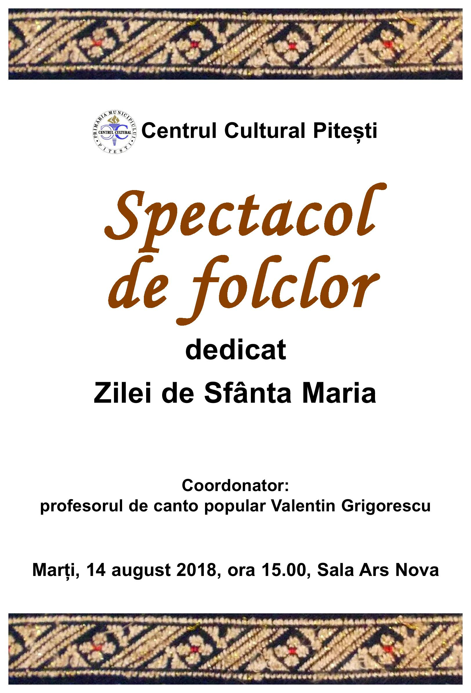14 august spectacol sf marie